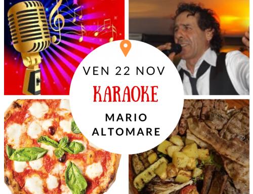 Venerdì serata divertimento con Mario Altomare